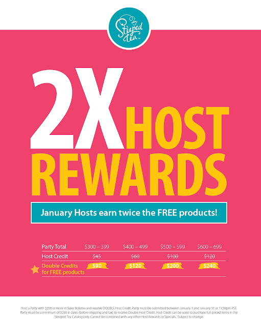 2X host rewards - January hosts earn twice the free products!