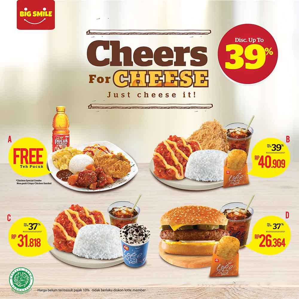 Lotteria - Promo Diskon s.d 39% di Menu Cheers for Cheese