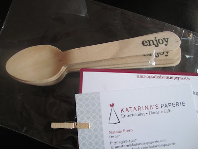 Wooden party spoons-Party supply