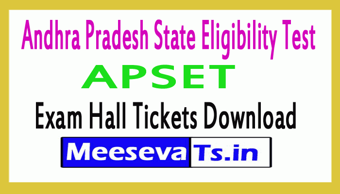 APSET Hall Tickets