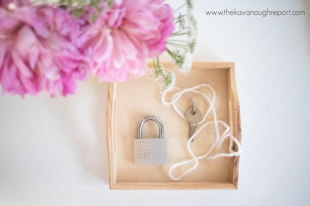 Montessori toddler activity - a lock and key