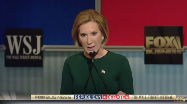Fox Business Republican Debate Carly Fiorina green