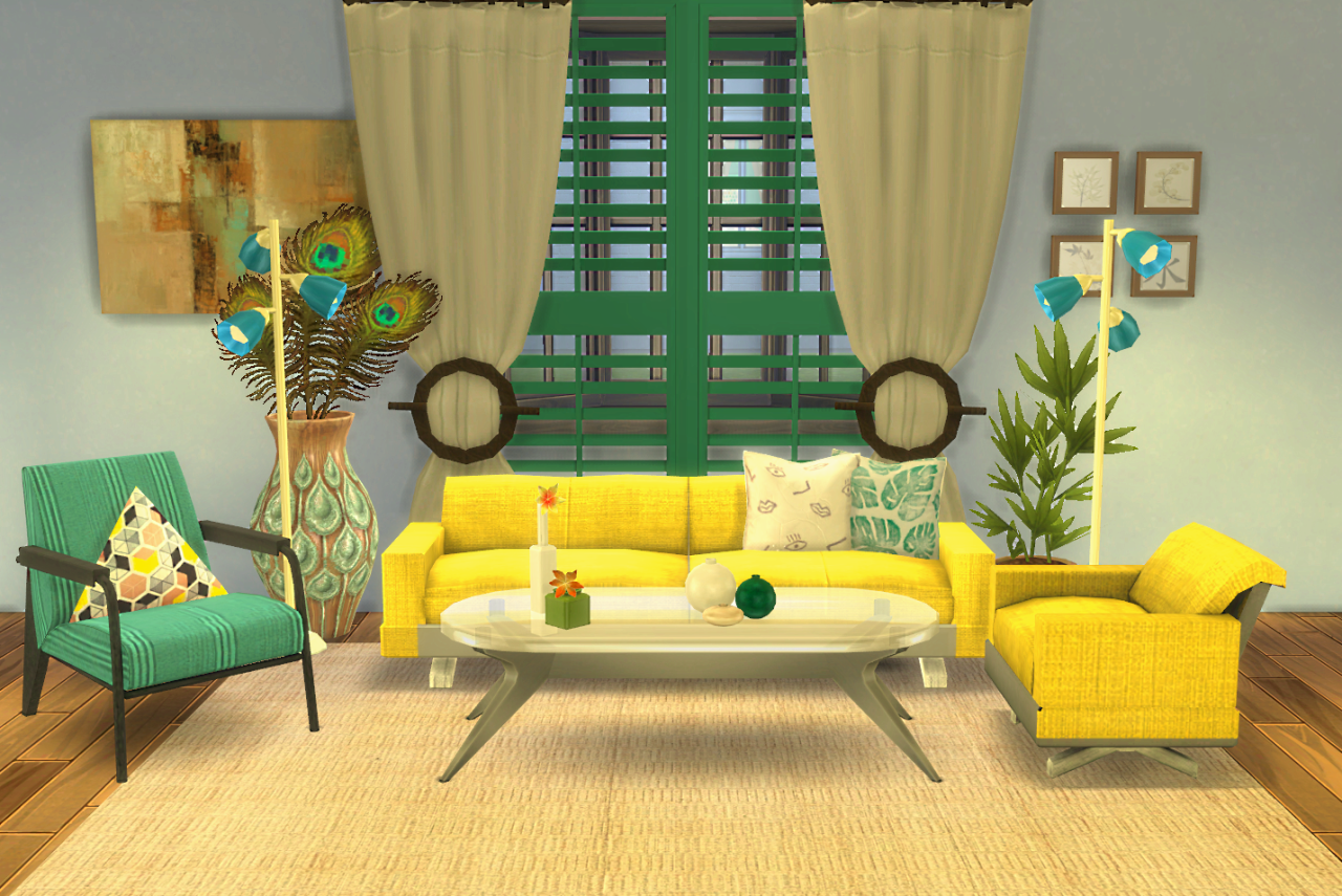 My Sims 4 Blog: Living Room and Blinds Recolors by BLewis