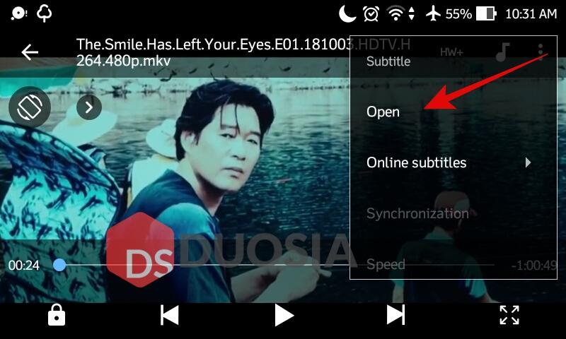 cara menampilkan subtitle di android