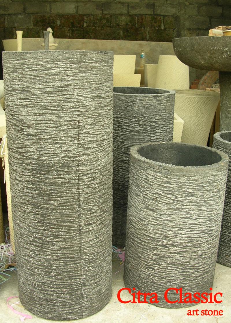 Pot Batu Paras Karang Art Stone Indonesia Vas Bunga Minimalis Kali Bata Candi Akik Apung