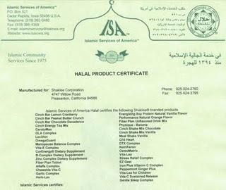 Shaklee Halal