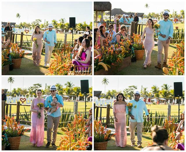 casamento no club med trancoso destination wedding na praia, roupas madrinhas e padrinhos