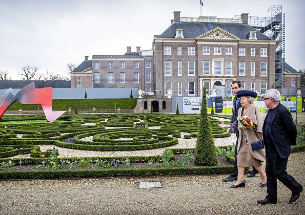 Dutch Princess Beatrix attended the opening of architect Daniel Libeskind's The Garden of Earthly Worries exhibition at Het Loo Palace