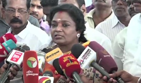 Mersal Issue reflect | Tamilisai gets a life-threatening call