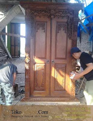 Kusen Pintu Minimalis Ukiran Jati Jepara