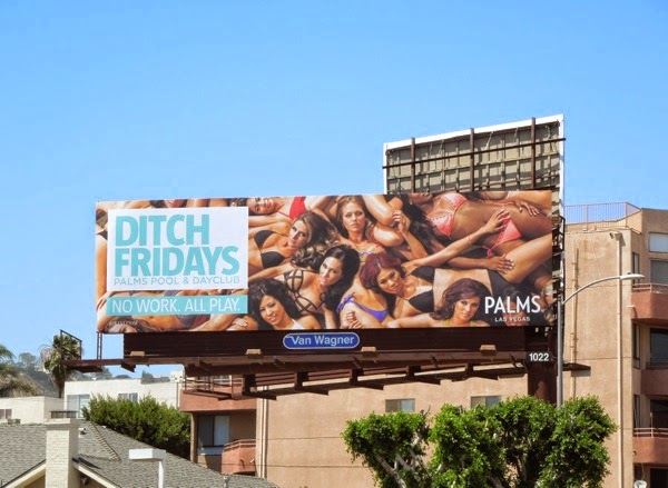 Ditch Fridays Palms Las Vegas billboard