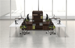Powered Open Desking Layout