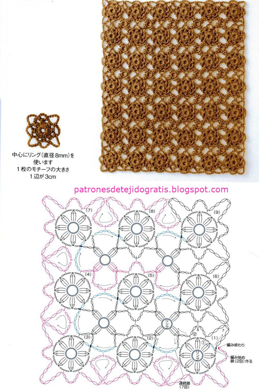 15 Patrones de Motivos Crochet Continuo | Patrones para Crochet