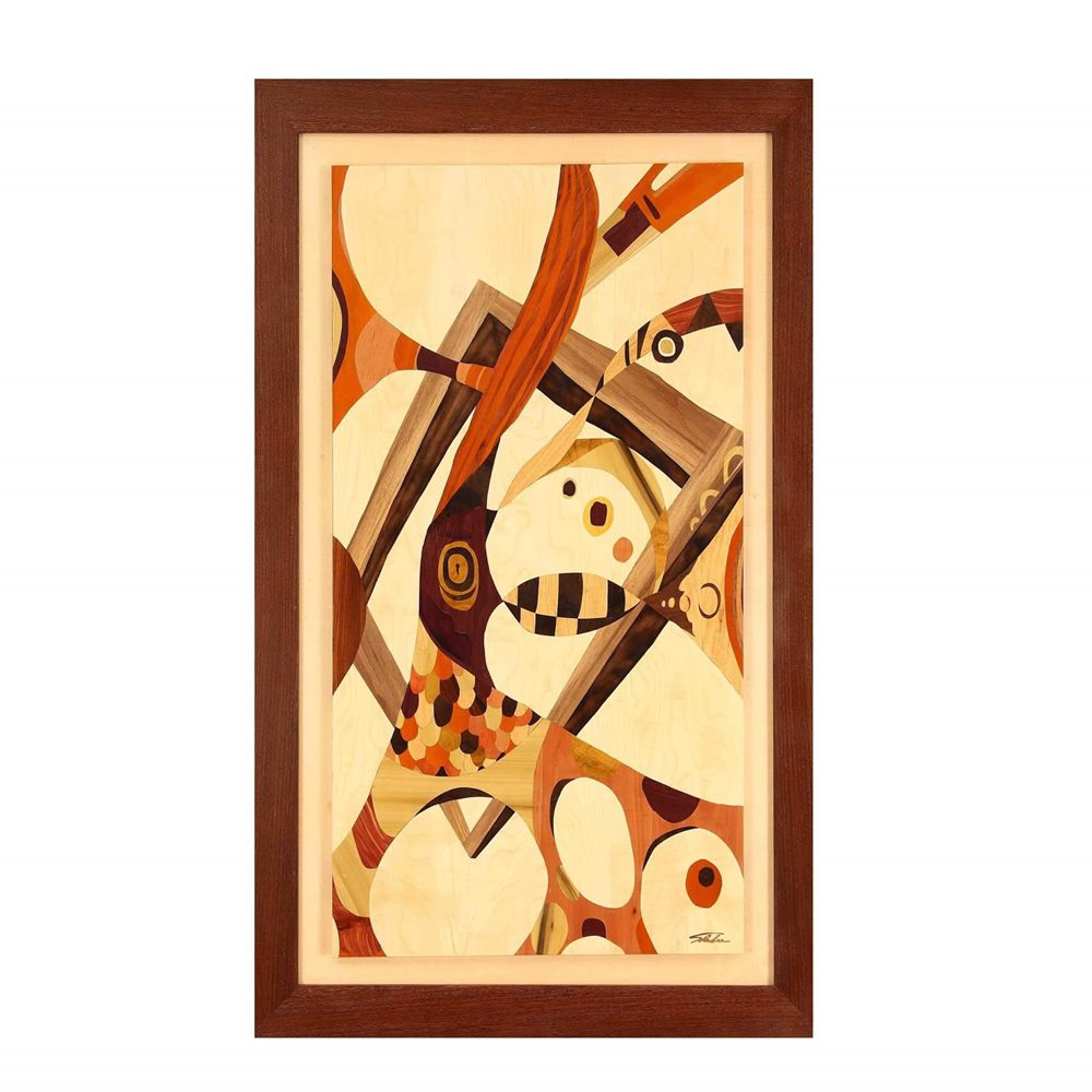木箔 ®系列作品 「跳出框框,活出自己」一幅