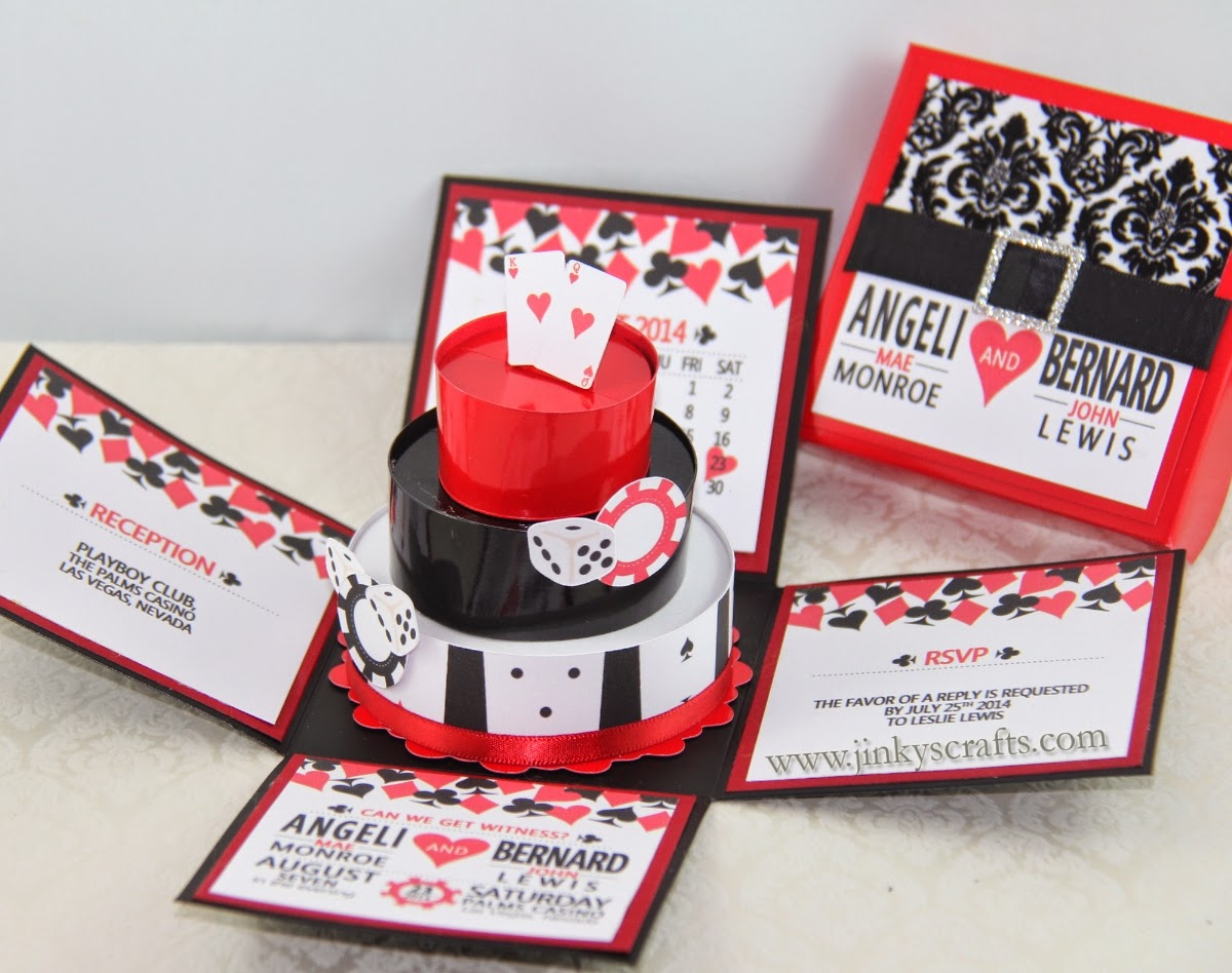 Las Vegas Exploding Box Wedding Invitation