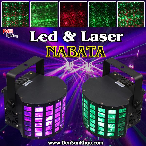 Đèn trang trí karaoke Công Nghệ LED LASER 2 Trong 1