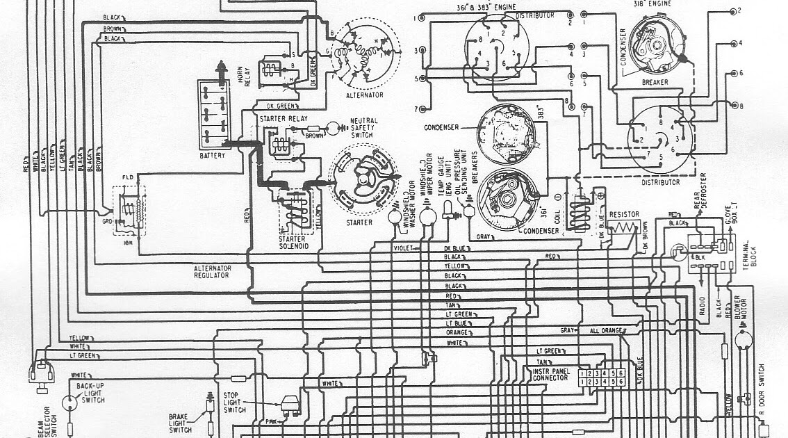 Free Auto Wiring Diagram: 1961 Plymouth Belvedere, Fury or Savoy