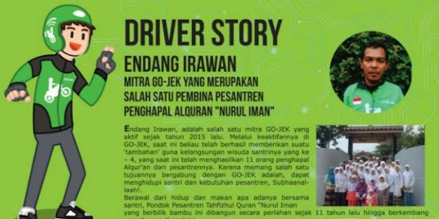 Salut! Ternyata Pembina Pesantren Penghafal Al Qur'an Ini Adalah Seorang Driver Gojek