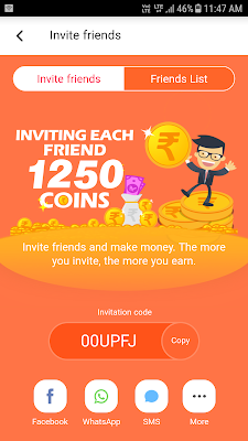 Here, you will see 'Invite Friends' option, just click on it