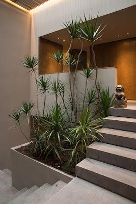 Desain Tangga Teras pada Halaman Rumah Modern