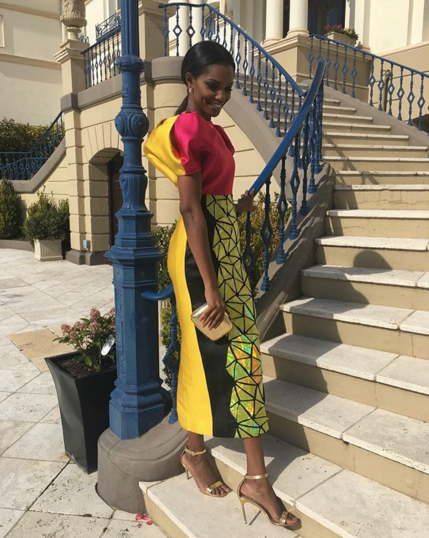 Former Miss World, Agbani Darego with other former Miss World winners at UK event