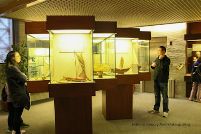 Models of sailing boats at Macau Maritime Museum, a part of Historical Centre of Macao
