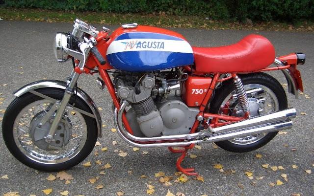 MV Agusta 750 Sport 1970s Italian classic motorbike
