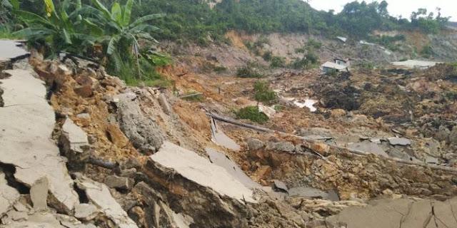 Longsor Susulan Di Desa Sirnaresmi Sukabumi, Tim SAR Dan Warga Berlarian