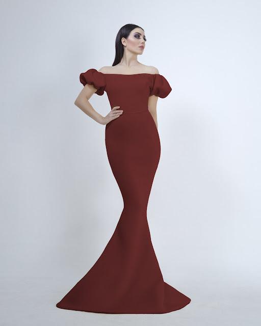 تسوق اونلاين فستان سهرة انيق  بتوقيع  المصمم يوسف الجسمي