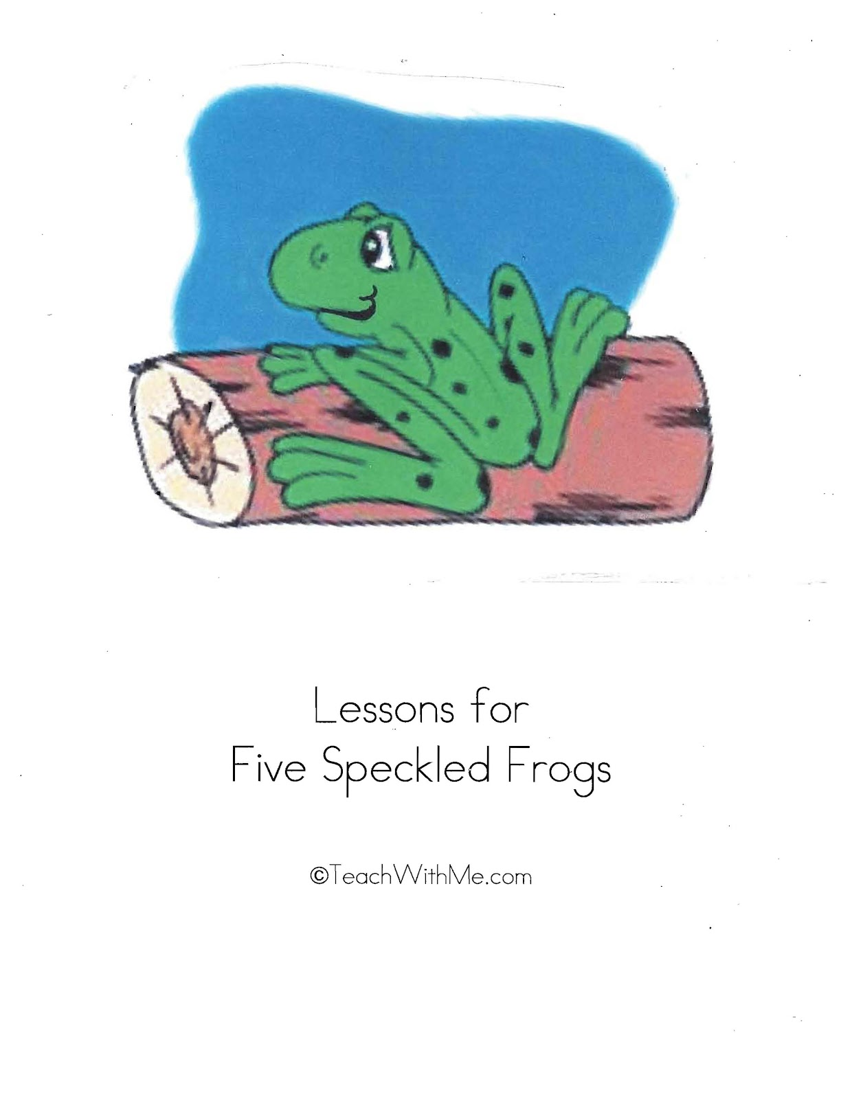 Five Little Speckled Frogs Activity Packet