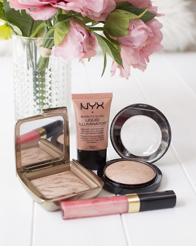 NYX Liquid Illuminator, Hourglass Bronzer, MAC Soft & Gentle and Chanel Lip Gloss