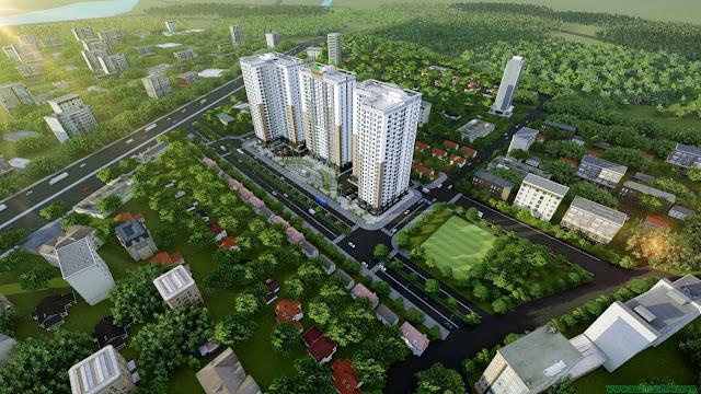 toàn cảnh dự án Xuân Mai Tower Thanh Hóa