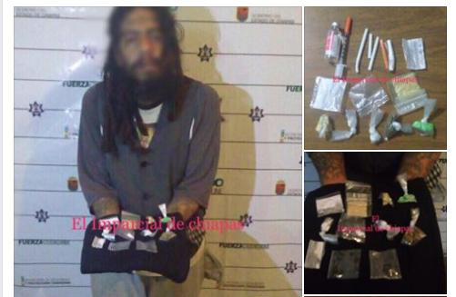 Elementos de la policia estatal y municipal adscritos al mando único, lograron la detención de Iris Rivas Valle de 35 años en posesión de drogas y mariguana.