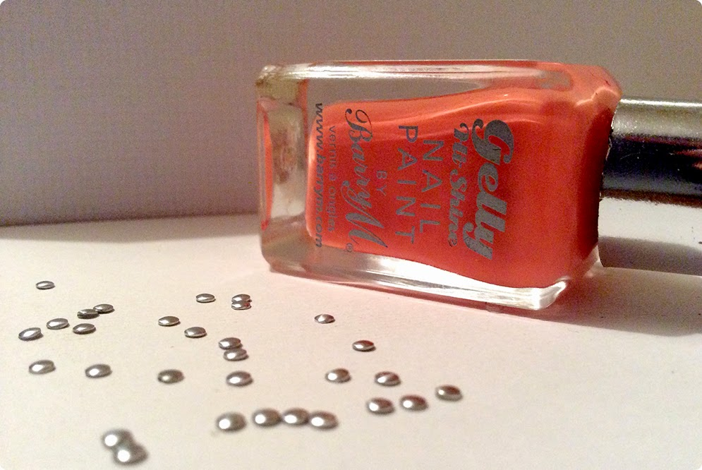 Barry M Gelly nail varnish and Sparkly Nails nail art studs