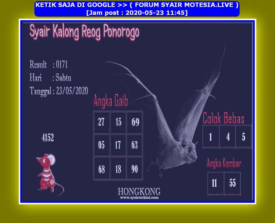 Kode syair Hongkong Sabtu 23 Mei 2020 102