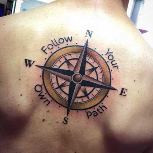 compass tattoo man