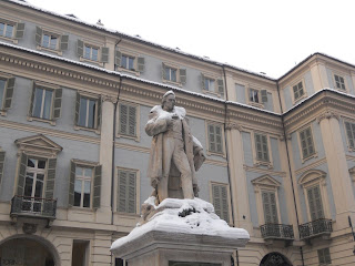The monument to Gioberti in Piazza Carignano