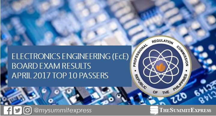 Top 10 April 2017 ECE, ECT board exam topnotchers