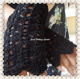 fingerless gloves, crochet gloves