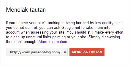 Cara Menolak Backlink dari Blog Orang Lain