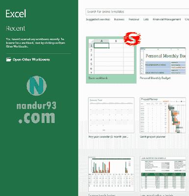 Microsoft Excel Bagi Pemula Buka Excel Nandur93