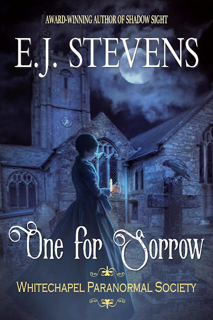 One for Sorrow, cover, E. J. Stevens, horror, Victorian, dreadpunk
