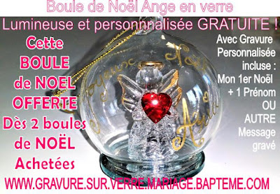Deco Noël,Cadeau noel,Boule de Noël ange en verre lumineuse
