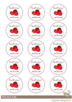 Etiquetas mermelada de fresas para imprimir y descargar gratis