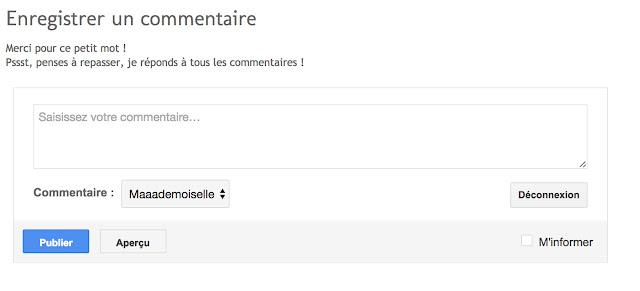 || Commentaire des articles (#CoulissesDuBlog)