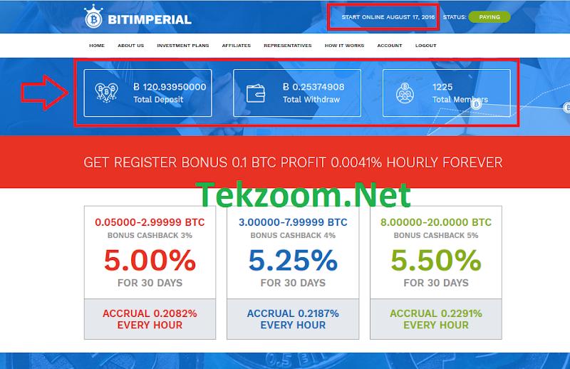 [SCAM] [Bitimperial][17/08/2016] HYIP - PAY - Tặng 0.1 BTC ngay khi đăng ký với lãi 0.0041% hằng ngày mãi mãi - Min Dep 0.05 BTC - Min Pay 0.001 BTC