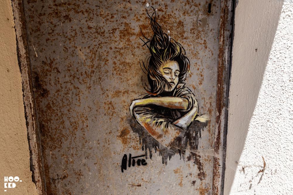 Alice Pasquini Street Art in Civita campomarano, Italy