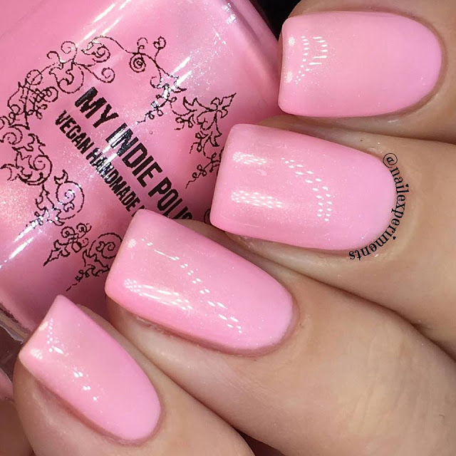 my indie polish the pinks collection polish in be a flamingo