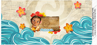 Moana Baby Free Printable Candy Bar Labels.