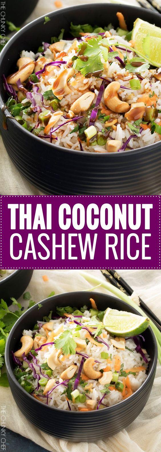 THAI COCONUT CASHEW RICE